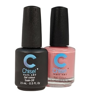 Chisel Duo Matching Soak Off Gel Polish 0.5 oz. + Nail Lacquer 0.5 oz Matches Chisel Dipping Powder Colors! SOLID18 (DUO-SOLID18)