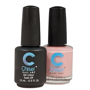 Chisel Duo Matching Soak Off Gel Polish 0.5 oz. + Nail Lacquer 0.5 oz Matches Chisel Dipping Powder Colors! SOLID19 (DUO-SOLID19)