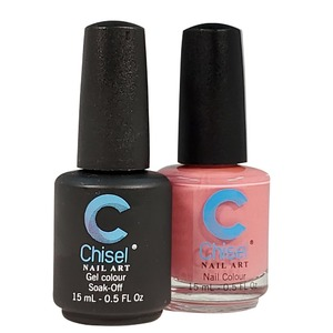 Chisel Duo Matching Soak Off Gel Polish 0.5 oz. + Nail Lacquer 0.5 oz Matches Chisel Dipping Powder Colors! SOLID20 (DUO-SOLID20)