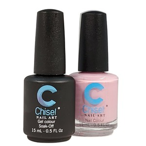 Chisel Duo Matching Soak Off Gel Polish 0.5 oz. + Nail Lacquer 0.5 oz Matches Chisel Dipping Powder Colors! SOLID21 (DUO-SOLID21)