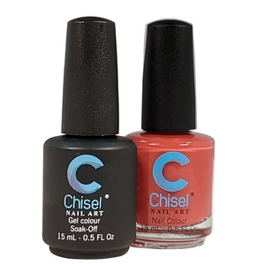 Chisel Duo Matching Soak Off Gel Polish 0.5 oz. + Nail Lacquer 0.5 oz Matches Chisel Dipping Powder Colors! SOLID22 (DUO-SOLID22)