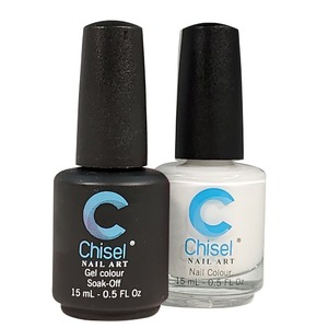 Chisel Duo Matching Soak Off Gel Polish 0.5 oz. + Nail Lacquer 0.5 oz Matches Chisel Dipping Powder Colors! SOLID24 (DUO-SOLID24)
