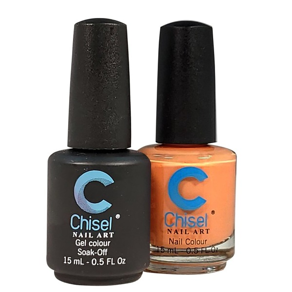 Chisel Duo Matching Soak Off Gel Polish 0.5 oz. + Nail Lacquer 0.5 oz Matches Chisel Dipping Powder Colors! SOLID27 (DUO-SOLID27)