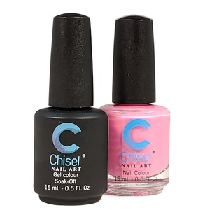 Chisel Duo Matching Soak Off Gel Polish 0.5 oz. + Nail Lacquer 0.5 oz Matches Chisel Dipping Powder Colors! SOLID30 (DUO-SOLID30)
