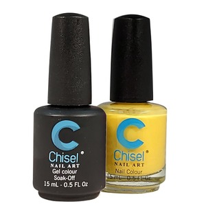 Chisel Duo Matching Soak Off Gel Polish 0.5 oz. + Nail Lacquer 0.5 oz Matches Chisel Dipping Powder Colors! SOLID33 (DUO-SOLID33)