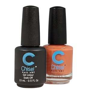 Chisel Duo Matching Soak Off Gel Polish 0.5 oz. + Nail Lacquer 0.5 oz Matches Chisel Dipping Powder Colors! SOLID41 (DUO-SOLID41)