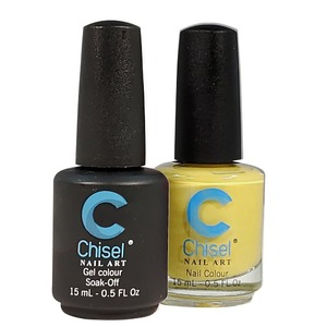 Chisel Duo Matching Soak Off Gel Polish 0.5 oz. + Nail Lacquer 0.5 oz Matches Chisel Dipping Powder Colors! SOLID45 (DUO-SOLID45)