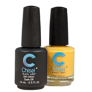 Chisel Duo Matching Soak Off Gel Polish 0.5 oz. + Nail Lacquer 0.5 oz Matches Chisel Dipping Powder Colors! SOLID46 (DUO-SOLID46)