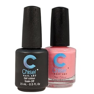 Chisel Duo Matching Soak Off Gel Polish 0.5 oz. + Nail Lacquer 0.5 oz Matches Chisel Dipping Powder Colors! SOLID47 (DUO-SOLID47)