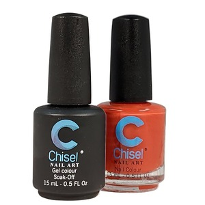 Chisel Duo Matching Soak Off Gel Polish 0.5 oz. + Nail Lacquer 0.5 oz Matches Chisel Dipping Powder Colors! SOLID49 (DUO-SOLID49)