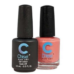 Chisel Duo Matching Soak Off Gel Polish 0.5 oz. + Nail Lacquer 0.5 oz Matches Chisel Dipping Powder Colors! SOLID50 (DUO-SOLID50)
