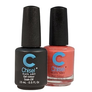 Chisel Duo Matching Soak Off Gel Polish 0.5 oz. + Nail Lacquer 0.5 oz Matches Chisel Dipping Powder Colors! SOLID51 (DUO-SOLID51)
