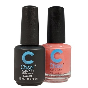 Chisel Duo Matching Soak Off Gel Polish 0.5 oz. + Nail Lacquer 0.5 oz Matches Chisel Dipping Powder Colors! SOLID52 (DUO-SOLID52)