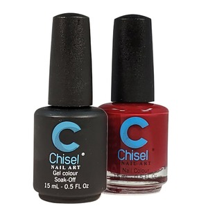 Chisel Duo Matching Soak Off Gel Polish 0.5 oz. + Nail Lacquer 0.5 oz Matches Chisel Dipping Powder Colors! SOLID54 (DUO-SOLID54)