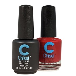 Chisel Duo Matching Soak Off Gel Polish 0.5 oz. + Nail Lacquer 0.5 oz Matches Chisel Dipping Powder Colors! SOLID55 (DUO-SOLID55)