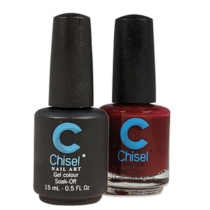Chisel Duo Matching Soak Off Gel Polish 0.5 oz. + Nail Lacquer 0.5 oz Matches Chisel Dipping Powder Colors! SOLID56 (DUO-SOLID56)