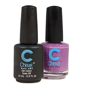 Chisel Duo Matching Soak Off Gel Polish 0.5 oz. + Nail Lacquer 0.5 oz Matches Chisel Dipping Powder Colors! SOLID57 (DUO-SOLID57)
