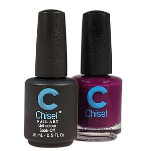 Chisel Duo Matching Soak Off Gel Polish 0.5 oz. + Nail Lacquer 0.5 oz Matches Chisel Dipping Powder Colors! SOLID58 (DUO-SOLID58)