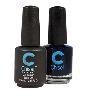 Chisel Duo Matching Soak Off Gel Polish 0.5 oz. + Nail Lacquer 0.5 oz Matches Chisel Dipping Powder Colors! SOLID60 (DUO-SOLID60)