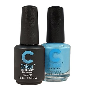 Chisel Duo Matching Soak Off Gel Polish 0.5 oz. + Nail Lacquer 0.5 oz Matches Chisel Dipping Powder Colors! SOLID61 (DUO-SOLID61)