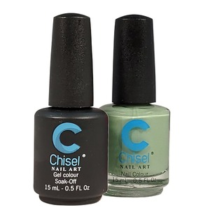 Chisel Duo Matching Soak Off Gel Polish 0.5 oz. + Nail Lacquer 0.5 oz Matches Chisel Dipping Powder Colors! SOLID63 (DUO-SOLID63)