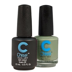 Chisel Duo Matching Soak Off Gel Polish 0.5 oz. + Nail Lacquer 0.5 oz Matches Chisel Dipping Powder Colors! SOLID64 (DUO-SOLID64)