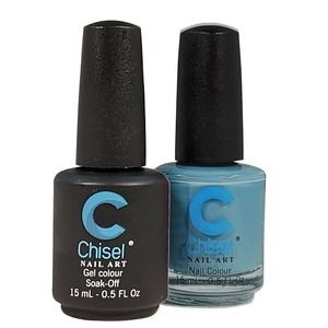 Chisel Duo Matching Soak Off Gel Polish 0.5 oz. + Nail Lacquer 0.5 oz Matches Chisel Dipping Powder Colors! SOLID74 (DUO-SOLID74)