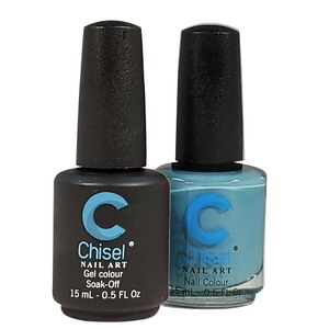 Chisel Duo Matching Soak Off Gel Polish 0.5 oz. + Nail Lacquer 0.5 oz Matches Chisel Dipping Powder Colors! SOLID75 (DUO-SOLID75)