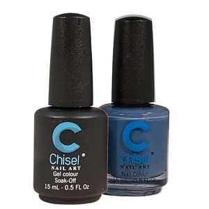 Chisel Duo Matching Soak Off Gel Polish 0.5 oz. + Nail Lacquer 0.5 oz Matches Chisel Dipping Powder Colors! SOLID77 (DUO-SOLID77)