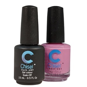 Chisel Duo Matching Soak Off Gel Polish 0.5 oz. + Nail Lacquer 0.5 oz Matches Chisel Dipping Powder Colors! SOLID80 (DUO-SOLID80)
