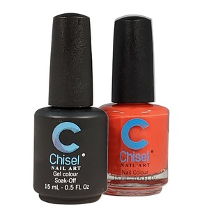 Chisel Duo Matching Soak Off Gel Polish 0.5 oz. + Nail Lacquer 0.5 oz Matches Chisel Dipping Powder Colors! SOLID84 (DUO-SOLID84)