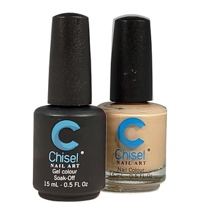 Chisel Duo Matching Soak Off Gel Polish 0.5 oz. + Nail Lacquer 0.5 oz Matches Chisel Dipping Powder Colors! SOLID91 (DUO-SOLID91)