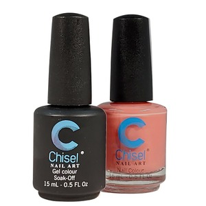Chisel Duo Matching Soak Off Gel Polish 0.5 oz. + Nail Lacquer 0.5 oz Matches Chisel Dipping Powder Colors! SOLID94 (DUO-SOLID94)