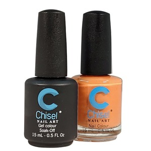 Chisel Duo Matching Soak Off Gel Polish 0.5 oz. + Nail Lacquer 0.5 oz Matches Chisel Dipping Powder Colors! SOLID98 (DUO-SOLID98)