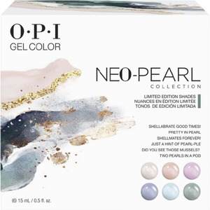 OPI GelColor Soak Off Gel Polish - GC289 - Neo Pearl Collection Add-On Kit #1 - 6 Pieces (GC289)