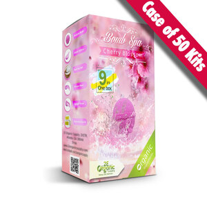 2E Organic - Bomb Spa 9-in-1 Pedi Kit - Cherry Blossom Case of (50) 9-in-1 Kits (18777)