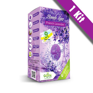 2E Organic - Bomb Spa 9-in-1 Pedi Kit - French Lavender (1) 9-in-1 Kit (18704)