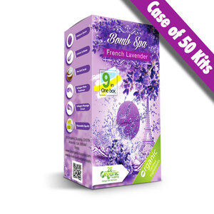 2E Organic - Bomb Spa 9-in-1 Pedi Kit - French Lavender Case of (50) 9-in-1 Kits (18850)