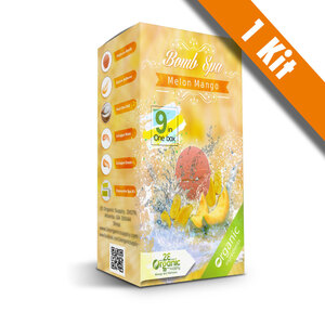 2E Organic - Bomb Spa 9-in-1 Pedi Kit - Melon Mango (1) 9-in-1 Kit (18685)