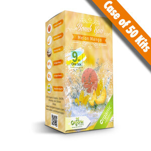2E Organic - Bomb Spa 9-in-1 Pedi Kit - Melon Mango Case of (50) 9-in-1 Kits (18872)