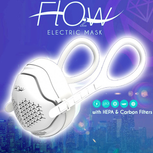 O2 Flow Electronic Face Mask True HEPA + Carbon Filter - 4 Stage HEPA H-13 Carbon Filtration (21430)