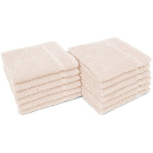 "Allure 12 - 100% Cotton Nail & Spa Towel 12"" X 12"" Beige 12 Pack (19295 - ADI #401230)"