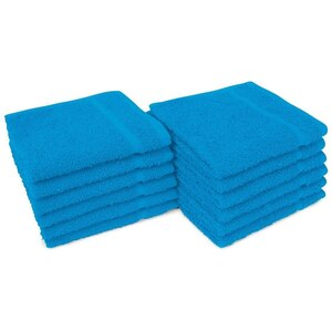 "Allure 12 - 100% Cotton Nail & Spa Towel 12"" X 12"" Bright Aqua 12 Pack (19303 - ADI #401285)"