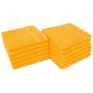 "Allure 12 - 100% Cotton Nail & Spa Towel 12"" X 12"" Bright Orange 12 Pack (19299 - ADI #401281)"