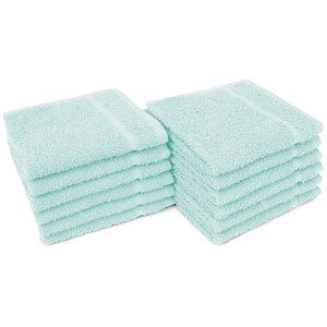 "Allure 12 - 100% Cotton Nail & Spa Towel 12"" X 12"" Jade Green 12 Pack (19298 - ADI #401270)"