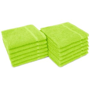 "Allure 12 - 100% Cotton Nail & Spa Towel 12"" X 12"" Lime Green 12 Pack (19301 - ADI #401283)"