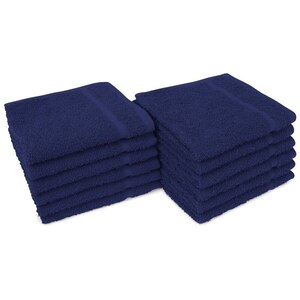 "Allure 12 - 100% Cotton Nail & Spa Towel 12"" X 12"" Navy Blue 12 Pack (19293 - ADI #401212)"