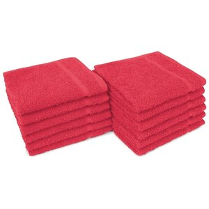 "Allure 12 - 100% Cotton Nail & Spa Towel 12"" X 12"" Red 12 Pack (19297 - ADI #401259)"