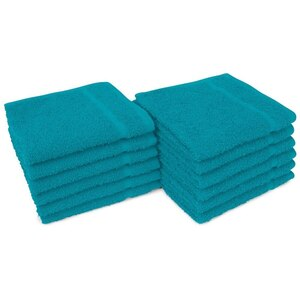 "Allure 12 - 100% Cotton Nail & Spa Towel 12"" X 12"" Teal 12 Pack (19288 - ADI #401206)"