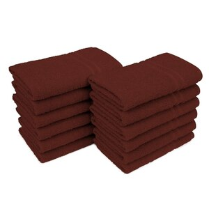 "Allure 29 - 100% Cotton Nail & Spa Towel / 16"" X 29"" / Chocolate Brown / 12 Pack (19272 - ADI #75211)"